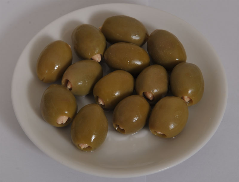 Green Chalkidiki Olives with Almond