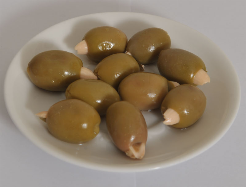 Green Chalkidiki Olives with Almond and Jalapeno