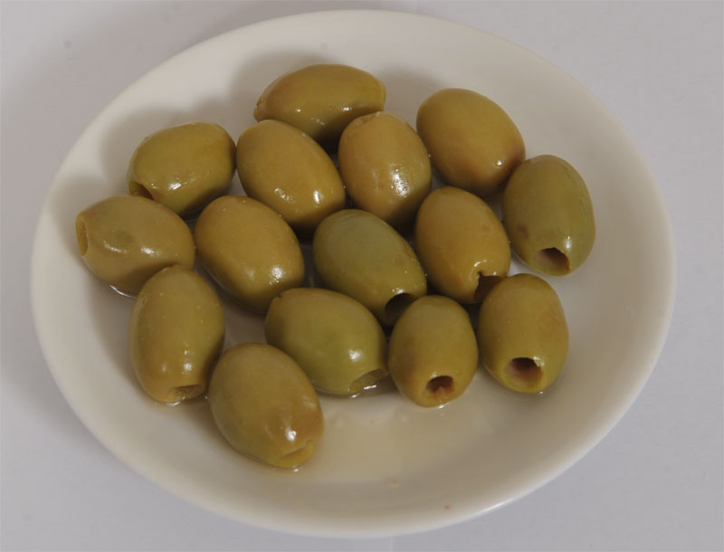 Pitted Green Chalkidiki Olives