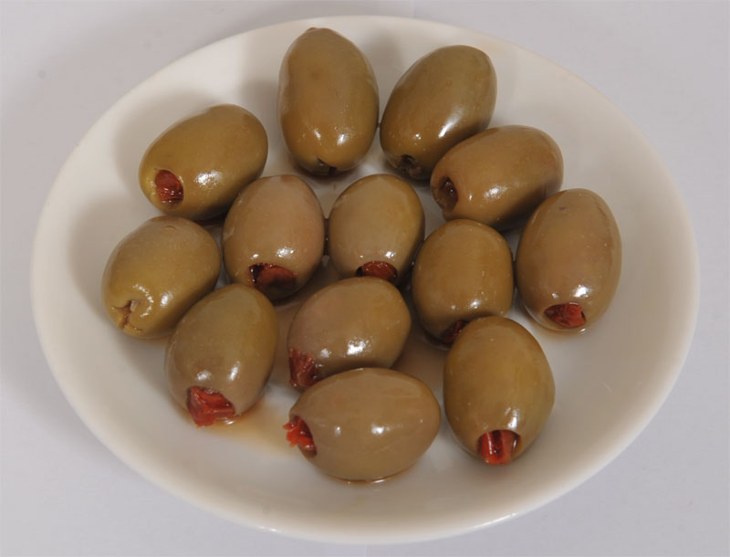 Green Chalkidiki Olives with Tomato