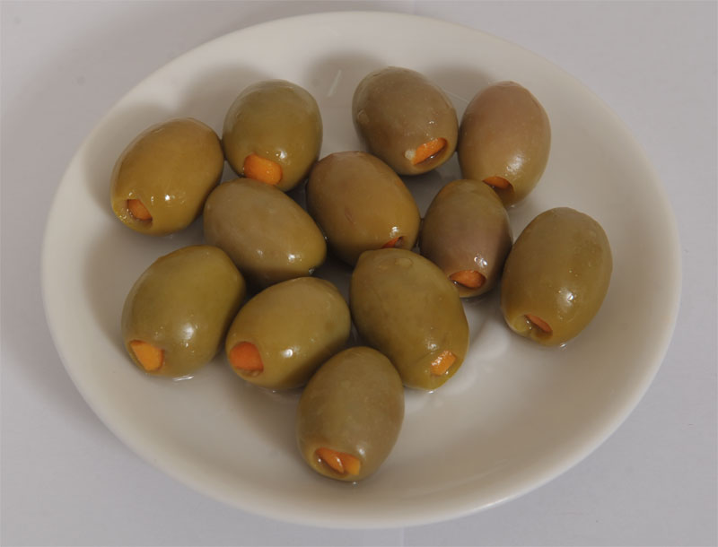 Green Chalkidiki Olives with Oranges